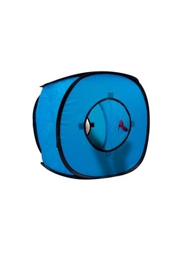 LİVİNG WORLD Karlıe Kedi Küp Ev 38X38X38Cm Mavi Renkli